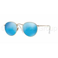 Ray-Ban RB3447 112/4L ROUND METAL MATTE GOLD BLUE MIRROR POLAR napszemüveg (RB3447__112_4L)
