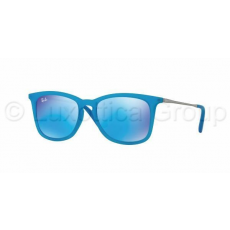 Ray-Ban RJ9063S 701155 AZURE FLUO TRASP RUBBER LIGHT GREEN MIRROR BLUE napszemüveg (RJ9063S__701155)