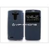 LG G4 H815 S-View Flexi oldalra nyíló flipes tok - kék