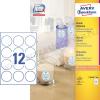 Avery 60mm kör alakú öntapadó etikett címke / Avery L3416-100