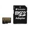 Verbatim Memóriakártya, microSDHC, 64GB, Class 10 UHS I, adapterrel, VERBATIM PRO+ (MVMS64GPP)