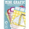 DJECO Mini Grafic színek és formák, vonalhúzó- Doodle colouring pictures