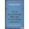 Akadémiai Wie ist die faschistische Philosophie in Deutschland entstanden?