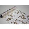 Fehér alapon arany csillámos inda mintás organza(24 cm * 5 m)