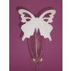 Pillangó ültetőkártya, ezüst (10 db)