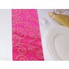 Szatén futó pink, arany inda mintával (37 cm x 5 m)