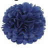 Papír gömb / pom-pom (25 cm átmérő ) királykék