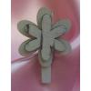 Facsipesz virággal (vintage), 5 cm-s (6 db)