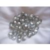 Ezüst dekorkő,dekorkavics (kb. 100 db/cs), 2 cm