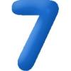 Felfújható szám (7)- 35 cm