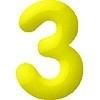 Felfújható szám (3)- 35 cm