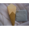 Világoskék dombornyomott desszert szalvéta (15 db)