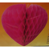 Szív 30 cm, pink (64747)