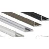 Led profil led szalagokhoz, keskenyebb L alakú ezüst, 1 méteres