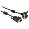 Valueline VGA kábel 5m 90° csatlakozó