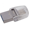 Kingston DataTraveler MicroDuo 3C USB pendrive, 32GB, USB 3.1, USB Type-C, Szürke (DTDUO3C/32GB)