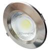 LEDvonal LED panel / mélysugárzó / 30 W / süllyesztett / kerek / természetes fehér / inox keret