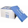 Archiváló konténer, levehető tető, 522x351x305 mm, karton, DONAU, kék‐fehér 5 db/csomag