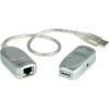 USB 1.1 Extender, jeltovábbító RJ45 csatlakozással max.60m-ig Aten UCE60-AT