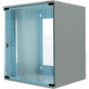 19-os fali rackszekrény, hálózati szerverszekrény, zárható ajtóval szürke 12 HE LogiLink W12H55G
