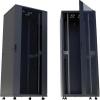 19-os rackszekrény, hálózati szerverszekrény görgőkkel, ajtóval 600 x 1653 x 600 mm, fekete 32 HE Intellnet (RAL 9005) 713528
