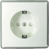 Keret nélküli földelt konnektor aljzat, fehér GAO EFP300G