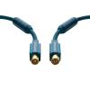 Antenna csatlakozókábel [1x Antennadugó, 75 Ω - 1x Antennacsatlakozó alj, 75 Ω] 3 m 95 dB aranyozott érintkező/Ferritmaggal Kék clicktronic