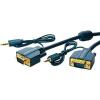 VGA / Jack Csatlakozókábel [1x VGA dugó/Jack dugó, 3,5 mm-es - 1x VGA dugó/Jack alj, 3,5 mm-es] 5 m Kék 2560 x 1600 pixel clicktronic