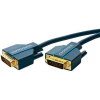 DVI Csatlakozókábel [1x DVI dugó, 24+1 pólusú - 1x DVI dugó, 24+1 pólusú] 5 m Kék 2560 x 1600 pixel clicktronic