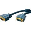 VGA Csatlakozókábel [1x VGA dugó - 1x VGA dugó] 1 m Kék 2560 x 1600 pixel clicktronic