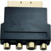Scart - RCA, S-VHS átalakító adapter [3x RCA aljzat, S-Video aljzat - 1x Scart dugó] Inakustik 83230
