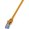 RJ45-ös patch kábel, hálózati LAN kábel CAT 7 S/FTP [1x RJ45 dugó - 1x RJ45 dugó] narancs 0,50m LogiLink CQ4028S