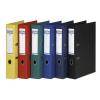 Iratrendező, 50 mm, A4, PP, élvédő sínnel, DONAU Premium , piros