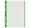 Genotherm, lefűzhető, színes szélű, A4, 40 mikron, narancsos felület, DONAU, zöld 100 db/csomag lefűző