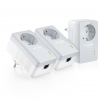 TP-Link TL-PA4010P TKIT AV500 Powerline Adapter with AC Pass Through 3-Pack Network Kit