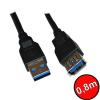 Névtelen Noname USB 3.0 hosszabbító kábel 0,8m