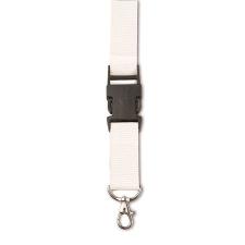 Csatos nyakpánt, kulcstartó, fehér (Csatos nyakpánt cseppkarabíner kulcstartóval. Méret: 80 × 2,5 ×) férfi ruházati kiegészítő