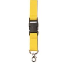 Csatos nyakpánt, kulcstartó, sárga (Csatos nyakpánt cseppkarabíner kulcstartóval. Méret: 80 × 2,5 ×)