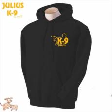 Julius-K9 K9 kapucnis pulóver, fekete - méret: XXL