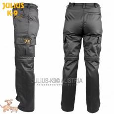 Julius-K9 K9 pamut nadrág, cipzározható szárral - impregnált, fekete / méret 40