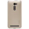 Nillkin Super Frosted édes műanyag hátlaptok kijelzővédő fóliával Asus ZE500CL Zenfone 2-höz arany*