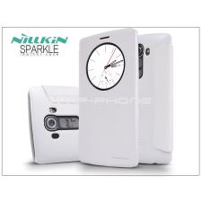 Nillkin LG G4 H815 oldalra nyíló flipes tok - Nillkin Sparkle - fehér tok és táska