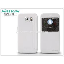 Nillkin Samsung SM-G920 Galaxy S6 oldalra nyíló flipes tok - Nillkin Sparkle - fehér tok és táska