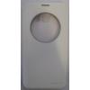 Nillkin Sparkle oldalra nyíló hívás mutatós szövetbevonatos csillámos fliptok Samsung G928 Galaxy S6 Edge Plus-hoz fehér*