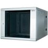 19-os fali rackszekrény, hálózati szerverszekrény, zárható ajtóval, fekete 09 HE LogiLink W09D67B