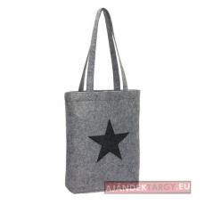 Star Dust filc bevásárlótáska, szürke