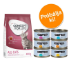 Cosma Próbacsomag: 400 g Concept for Life + 6 x 70 g Cosma Nature - Indoor Cats + Cosma Nature