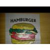 Hamburgeres tasak szines 100 db