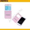 REMAX REMAX Elegance tok álló, bőr (FLIP, oldalra nyíló, hívókijelzés, View Window) RÓZSASZÍN/FEHÉR [Apple iPhone 6 Plus 5.5``]