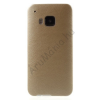 utángyártott Telefonvédő gumi / szilikon (ultravékony, bőrhatás) ARANY [HTC One 2015 (M9)]